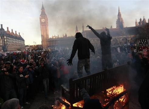 Student clashes in London