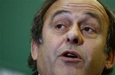 <p>Michel Platini sucedeu Lennart Johansson como presidente da Uefa em 2007. 14/11/10 REUTERS/Stoyan Nenov</p>