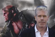 "<p>Actor Ron Perlman poses for photographers during the premiere of the movie ""Hellboy II The Golden Army"" in Los Angeles, California, in this June 28, 2008 file photo. REUTERS / Hector Mata</p>"