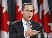 <p>Bank of Canada Governor Mark Carney speaks during a news conference upon the release of the Monetary Policy Report in Ottawa January 19, 2011 REUTERS/Chris Wattie</p>