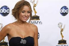 "<p>Reality TV show star Lauren Conrad from ""The Hills"" poses backstage at the 60th annual Primetime Emmy Awards in Los Angeles September 21, 2008. REUTERS/Mike Blake</p>"