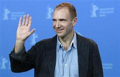 <p>Actor and director Ralph Fiennes waves as he poses during a photocall to promote the movie 'Coriolanus' at the 61st Berlinale International Film Festival in Berlin February 14, 2011. REUTERS/Christian Charisius</p>