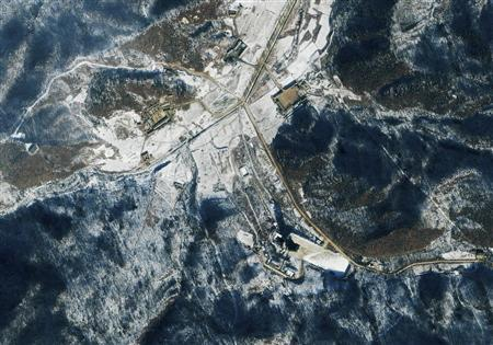 A satellite image courtesy of GeoEye shows the Tongchang-dong Missile and Space Launch Facility (lower center) in North Korea, January 10, 2011. REUTERS/GeoEye