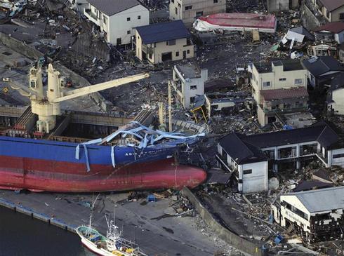 Scenes of destruction in Japan