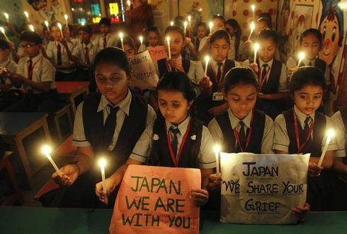 India prays for Japan