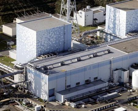 Tokyo Electric Power Co.'s Fukushima Daiichi Nuclear Plant No.4 reactor is seen in this aerial view October 2008 file photo in Fukushima Prefecture, northeastern Japan. REUTERS/Kyodo