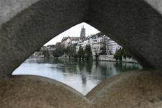 <p>The Swiss town of Basel on the Rhine River March 28, 2008. (EURO 2008 PREVIEW) REUTERS/Christian Hartmann</p>