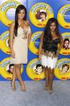 """<p>Jenni """"J-Wowww"""" Farley (L) and Nicole """"Snooki"""" Polizzi of reality television program """"Jersey Shore"""" arrive as guests for the premiere of the film """"Grown Ups"""" in New York June 23, 2010. REUTERS/Lucas Jackson</p>"""