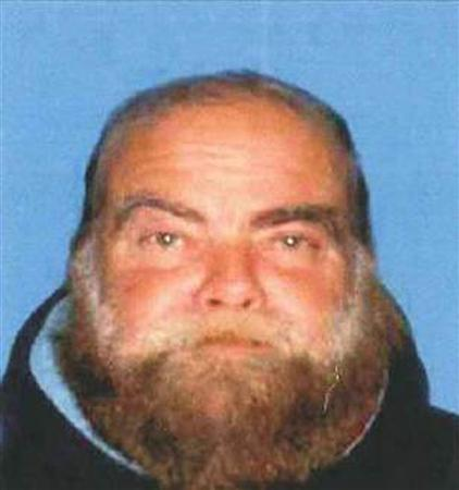 Transient Ron Hirsch, who also goes by the name Israel Fisher, is shown in this photograph from the Santa Monica Police department released April 8, 2011. REUTERS/Santa Monica Police Department