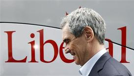 <p>Liberal Leader Michael Ignatieff prepares to speak to the media during a campaign stop in Ottawa April 11, 2011. REUTERS/Blair Gable</p>