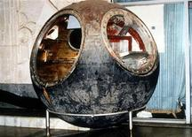 <p>The Vostok 3KA-2 Russian space capsule, which was sent into space March 23, 1961, is displayed in this undated photo provided by Sotheby's in New York.</p>