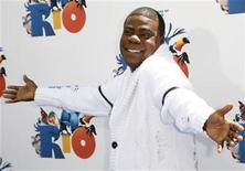 """<p>Actor Tracy Morgan arrives at the premiere of the film """"Rio"""" at Grauman's Chinese Theater in Hollywood, California April 10, 2011. REUTERS/Jason Redmond</p>"""