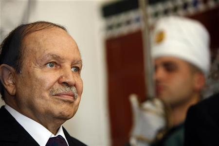 File photo of Algeria's President Abdelaziz Bouteflika at the presidential palace in Algiers July 17, 2008. REUTERS/Zohra Bensemra