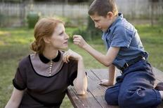 <p>Jessica Chastain and Tye Sheridan in a scene from 'The Tree of Life'. REUTERS/Fox Searchlight</p>