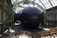 """<p>General view of the set-up """"Leviathan"""" by Indian born, British based, artist Anish Kapoor for the Monumenta 2011 event in the nave of the """"Grand Palais"""" in Paris May 9, 2011. REUTERS/Benoit Tessier</p>"""