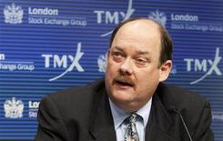 <p>TMX Group CEO Tom Kloet speaks during a news conference in Toronto, February 9, 2011. REUTERS/Mark Blinch</p>