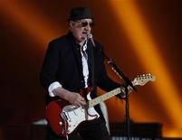 <p>Pete Townshend of British rock band 'The Who' performs during the halftime show for the NFL's Super Bowl XLIV football game between the New Orleans Saints and the Indianapolis Colts in Miami, Florida February 7, 2010. REUTERS/Jeff Haynes</p>