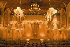 <p>The Plaza Hotel's Terrace Room is illuminated only by candles in New York City in this 2003 photo. REUTERS/Light X Design/Bentley Meeker/Handout</p>