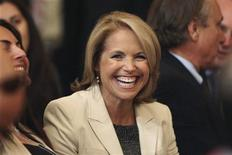 <p>CBS News anchor Katie Couric is pictured before U.S. President Barack Obama delivers a speech about United States' policy on the Middle East and North Africa, at the State Department in Washington May 19, 2011. REUTERS/Jason Reed</p>