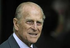 <p>Britain's Prince Philip smiles during his visit with Queen Elizabeth to the Irish National Stud in Kildare, Ireland May 19, 2011. REUTERS/Dylan Martinez</p>