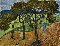 """<p>""""Landscape with figures"""" by Van Gogh is shown in this undated handout photo. REUTERS/The Baltimore Museum of Art/Handout</p>"""