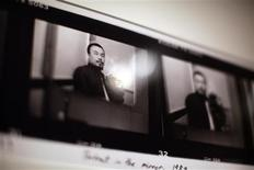 <p>Notes are seen on a contact sheet of self portraits, displayed during an exhibit by Chinese artist Ai Weiwei at the Asia Society in New York, June 29, 2011. REUTERS/Brendan McDermid</p>