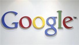 <p>Foto de archivo del logo de Google en su oficina de Seúl, mayo 3 2011. El margen de ganancias de Google y su recién lanzada red social estarán en el punto de mira de los inversores cuando la compañía de internet presente el jueves sus resultados trimestrales al cierre del mercado. REUTERS/Truth Leem/Files</p>
