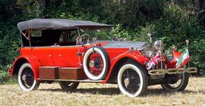 <p>A rare Rolls Royce Phantom modified for tiger hunting by an Indian maharaja during the days of the British Raj, featuring a mounted machine gun and a cannon, in an undated photo. REUTERS/Handout</p>