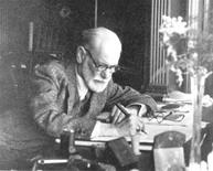 <p>Sigmund Freud is seen at his study at 39 Elsworthy Rd in London in a handout photo. REUTERS/Freud Museum London/Handout</p>