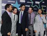 <p>Actors (L-R) Jeremy Piven, Kevin Connolly, Adrian Grenier, Kevin Dillon and Jerry Ferrara arrive at the premiere of HBO's final season of 'Entourage' in New York July 19, 2011. REUTERS/Brendan McDermid</p>