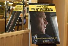 <p>A poster promoting the National Geographic Channel documentary marking the tenth anniversary of 9/11 'George W. Bush the 9/11 Interview' is pictured at the 2011 Summer Television Critics Association Cable Press Tour in Beverly Hills, July 28, 2011. REUTERS/Fred Prouser</p>