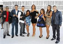 """<p>The cast of """"Jersey Shore"""" pose upon their arrival at the 2010 MTV Video Music Awards in Los Angeles, California, September 12, 2010. REUTERS/Lucy Nicholson</p>"""