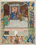 <p>An illuminated manuscript from the British Library is seen in a handout photo. REUTERS/British Library/Handout</p>
