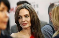 """<p>Actress Angelina Jolie attends the premiere of """"The Tree of Life"""" at LACMA in Los Angeles May 24, 2011. REUTERS/Mario Anzuoni</p>"""