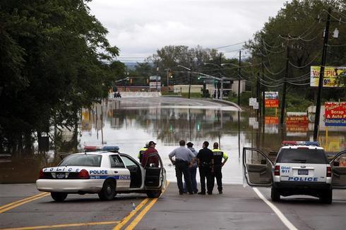 Floods hit the East