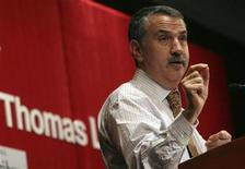 """<p>Author of the book, """"The """"World is Flat: A Brief History of the Twenty-first Century"""", Thomas Friedman delivers a speech at a seminar held by Asia Society in Hong Kong December 16, 2008. REUTERS/Woody Wu</p>"""