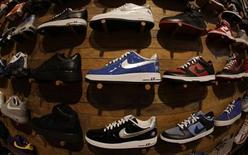 <p>Nike shoes are displayed at a Niketown store in Beverly Hills, California, March 16, 2010. REUTERS/Lucy Nicholson</p>