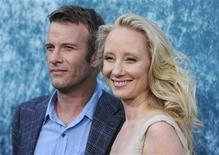 """<p>Cast members Thomas Jane (L) and Anne Heche attend the premiere for season two of the HBO series """"Hung"""" in Los Angeles June 23, 2010. REUTERS/Phil McCarten</p>"""