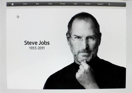 Apple Inc co-founder and former CEO Steve Jobs picture is featured on the front page of the Apple website after his passing in this screen grab October 5, 2011.  REUTERS/Mike Blake