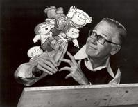 """<p>Cartoonist Bil Keane is seen with characters from his comic strip """"The Family Circus"""" in this undated publicity photograph. Keane, whose kid-friendly comic strip gave readers a funny version of his own life at home and became one of the most widely syndicated cartoon panels in the world, has died at age 89, his distributor said on November 9, 2011. Keane died on November 8 of congestive heart failure at his home in Paradise Valley, Arizona, said Claudia Smith, a spokeswoman for syndication company King Features. REUTERS/King Features Syndicate/Handout</p>"""