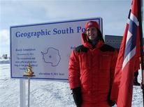 <p>Norwegian Prime Minister Jens Stoltenberg is seen at the South Pole in this picture made available by the office of the prime minister through a social network December 12, 2011. REUTERS/SMN/Handout</p>