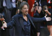 "<p>Director and actor Al Pacino poses for photographers as he arrives for the ""Wilde Salome"" red carpet at the 68th Venice Film Festival September 4, 2011. REUTERS/Alessandro Garofalo</p>"
