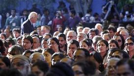 <p>Members of the audience listen to authors at the annual Literature Festival in Jaipur, capital of India's desert state of Rajasthan January 20, 2012. REUTERS/Altaf Hussain</p>