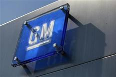 <p>The General Motors logo is seen outside its headquarters at the Renaissance Center in Detroit, Michigan in this file photograph taken August 25, 2009. REUTERS/Jeff Kowalsky/Files</p>