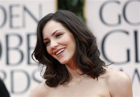 Singer Katharine McPhee arrives at the 69th annual Golden Globe Awards in Beverly Hills, California in this January 15, 2012 file photo. McPhee, now 27, stars as a young actress competing to be cast as Marilyn Monroe in a Broadway musical in the new TV ''show within a show'' series ''Smash''. REUTERS/Danny Moloshok/Files