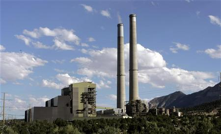 Smoke stacks at a power plant in Utah, in a file photo. REUTERS/Danny Moloshok
