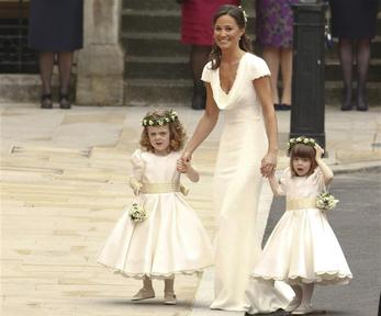 Pippa Middleton, sister of the bride Kate Middleton arrives at her wedding to Britain's Prince William. Photo: REUTERS