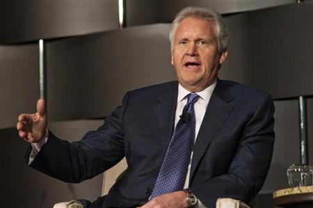 Jeffrey Immelt, Chairman and CEO of General Electric, speaks at the 2012 Simon Graduate School of Business' New York City Conference in New York, May 3, 2012. REUTERS/Keith Bedford