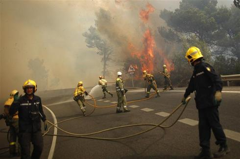 Wildfires rage in Spain