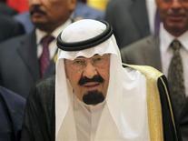 <p>العاهل السعودي الملك عبد الله بن عبد العزيز في مكة يوم 14 اغسطس اب 2012 - رويترز</p>